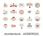 father's day badge design .... | Shutterstock .eps vector #635859023
