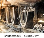 Closeup Steam Locomotive Wheel...