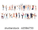 group gone crazy | Shutterstock . vector #63586753