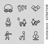 adult icons set. set of 9 adult ... | Shutterstock .eps vector #635867648