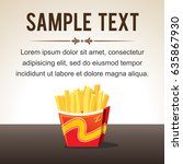 french fries. menu template.... | Shutterstock .eps vector #635867930