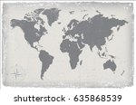 vintage world map.grunge map of ... | Shutterstock .eps vector #635868539