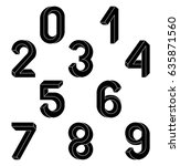 impossible geometry  numbers.... | Shutterstock .eps vector #635871560