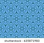 decorative ethnic ornament.... | Shutterstock .eps vector #635871983
