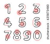 element  set of ten numbers... | Shutterstock .eps vector #635873480