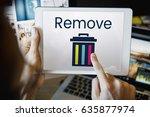 delete remove trash can... | Shutterstock . vector #635877974