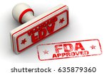 fda approved. red seal and... | Shutterstock . vector #635879360
