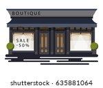 boutique facade. illustration...   Shutterstock .eps vector #635881064