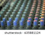 mixer volume audio mixer and... | Shutterstock . vector #635881124