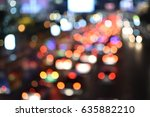 night city background  blur... | Shutterstock . vector #635882210