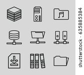 archive icons set. set of 9... | Shutterstock .eps vector #635885384