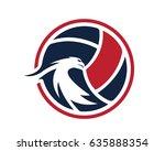 modern volleyball logo  ... | Shutterstock .eps vector #635888354