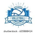 modern volleyball logo   urban... | Shutterstock .eps vector #635888414