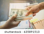 Small photo of Man offering batch of hundred dollar bills. Hands close up. Venality, bribe, corruption concept. Hand giving money - United States Dollars (or USD). Hand receiving money from businessman.