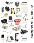 office objects collection... | Shutterstock . vector #63589822