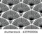 decorative hand drawn seamless... | Shutterstock .eps vector #635900006