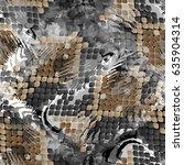 seamless pattern wild design.... | Shutterstock . vector #635904314