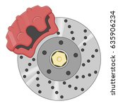 disc brake illustration | Shutterstock .eps vector #635906234