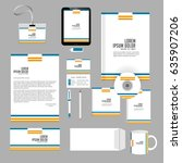 creative templates for office... | Shutterstock .eps vector #635907206