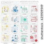 infographics mini concept... | Shutterstock . vector #635909549