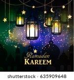 ramadan kareem  greeting... | Shutterstock .eps vector #635909648