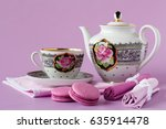 antique porcelain coffee cups... | Shutterstock . vector #635914478