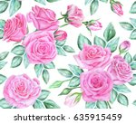 seamless floral pattern with... | Shutterstock . vector #635915459