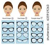 spectacle frames shapes for... | Shutterstock .eps vector #635919263