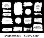 set of white paint  ink brush...   Shutterstock .eps vector #635925284