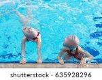 happy children kids group at... | Shutterstock . vector #635928296