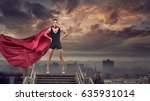 portrait of young hero woman... | Shutterstock . vector #635931014