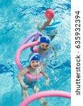 happy children kids group at... | Shutterstock . vector #635932394