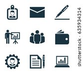 business icons set. collection... | Shutterstock .eps vector #635934314