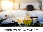 foreground product of spa   a... | Shutterstock . vector #635934824