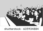 illustration of festival crowd... | Shutterstock .eps vector #635934884
