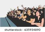 illustration of festival crowd... | Shutterstock .eps vector #635934890