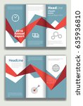 blue and red annual report... | Shutterstock .eps vector #635936810
