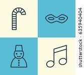 celebration icons set.... | Shutterstock .eps vector #635940404