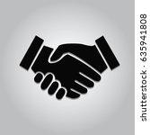 business handshake   contract... | Shutterstock .eps vector #635941808