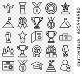 achievement icons set. set of... | Shutterstock .eps vector #635946980