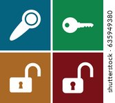 private icons set. set of 4... | Shutterstock .eps vector #635949380