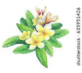 illustration of tropical resort ...   Shutterstock . vector #635951426