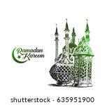ramadan kareem mosque or masjid ...   Shutterstock .eps vector #635951900