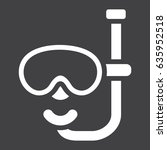 diving mask solid icon  travel... | Shutterstock .eps vector #635952518
