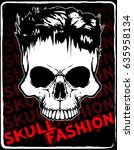 skull t shirt graphic design | Shutterstock .eps vector #635958134