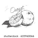 orange made in the style of a... | Shutterstock .eps vector #635960066