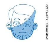 head face man character comic | Shutterstock .eps vector #635963120