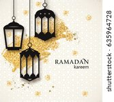 ramadan kareem background.... | Shutterstock .eps vector #635964728