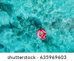 top view of adorable little... | Shutterstock . vector #635969603