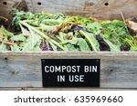 compost bin  | Shutterstock . vector #635969660